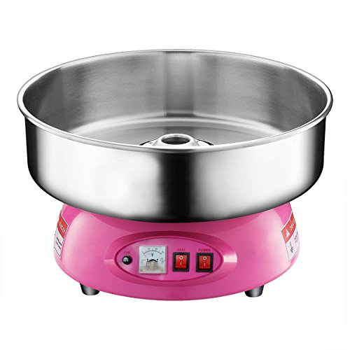 (Clevr Compact Commercial Cotton Candy Machine Party Candy Floss Maker Pink)