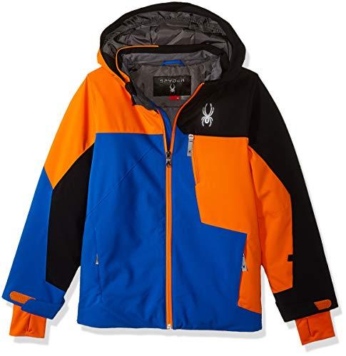 Spyder Boys' Ambush Ski Jacket, Turkish Sea/Exuberance/Black, Size 14