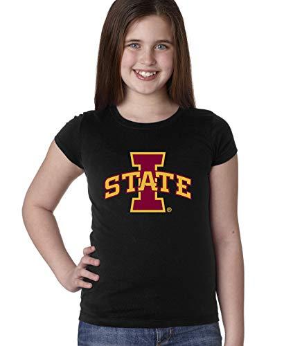 CornBorn Iowa State Cyclones Youth Girls Tee Shirt - ISU Logo - Let's Go State - Black - -