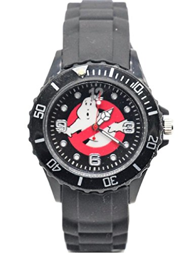 Ghostbusters No Ghost Logo Black Silicone Band WRIST WATCH