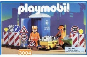 Amazon.com: Playmobil 3004-Construction Workers: Toys & Games
