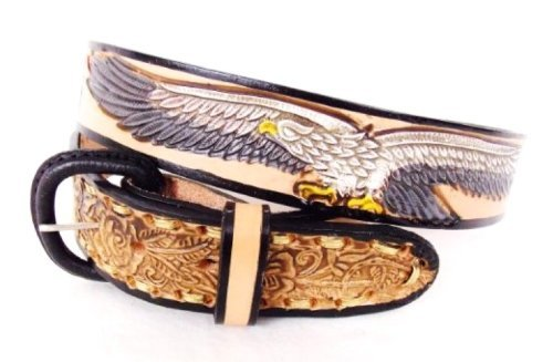 Country   Biker - Ceinture homme cuir - Country Eagle   USA Size 38   XM 3fe04b92d98