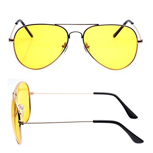 Aviator Anti Glare Yellow Hd Polariz Night Vision Glasses For Driving//Shooting