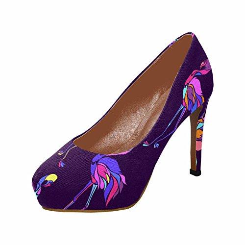 Piattaforma Di Scarpe Tacco Alto Di Moda Di Womens Classic Fashion Pumps Colorati Fenicotteri