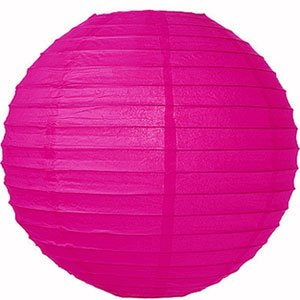 Spring Rose(TM) Huge 16 Inch Fuschia-Hot Pink Chinese Paper Lanterns (Set of 10). Make Your Next Reception Something to Remember. These Are Gorgeous Decorations for Any Event, Wedding, or Party.
