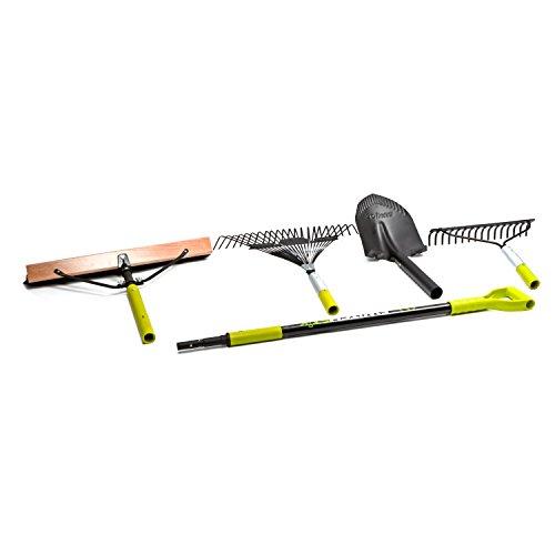 Sun Joe SJ-HS101 Switchstik 4-In-1 Tool System: Shovel, Broom, Leaf/Garden Rake ()