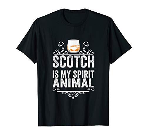 Scotch Is My Spirit Animal Funny Whiskey Drinking T-Shirt -