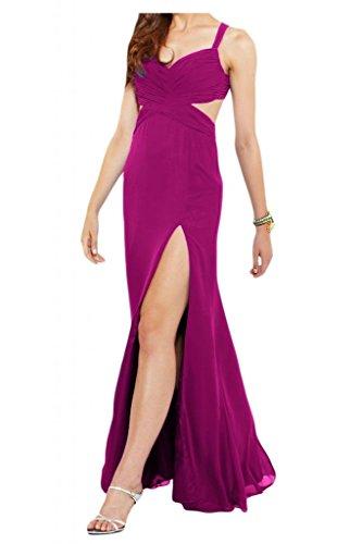 Toscana sposa Rueckenfrei dall'effetto Chiffon stanotte vestiti per sposa giovane lontano dalla palla un'ampia party vestimento viola 40