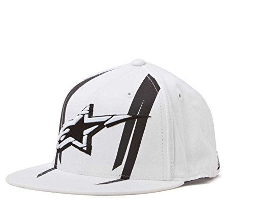 Alpinestars Official 210 Flexfit Hat , Gender: Mens/Unisex, Size: Sm-Md, Distinct Name: Official 210 White, Primary Color: White 10328101720SM