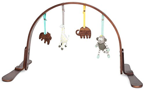 Finn + Emma Play Gym, Organic Cotton and Natural Wood, for Baby Boy or Girl – Jungle - (Natural Jungle Gym)