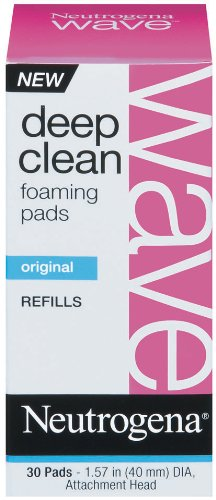 Neutrogena Wave Deep Clean Foaming Pad Refills, 30 Count (Pack of 3)