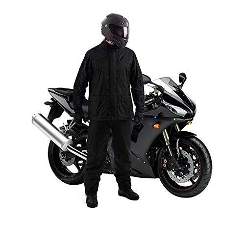 V MOBITE? Waterproof Raincoat Jacket Pant Heavy Duty Waterproof Windproof Raincoat with Tapping Inside Pant Rider Rainsuit BARSAATI Waterproof Raincoat (Navy Blue,Black Free Size)