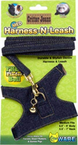 (Ware Critter Jeans Medium Animal Harness-N-Leash)