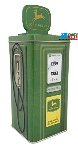 The Tin Box Company 861907-12 John Deere Vintage Gasonline Pump Tin Bank (Tractor Case Tin Sign)