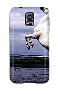 Galaxy S5 Hard Back With Bumper Silicone Gel Tpu Case Cover Horse Australia
