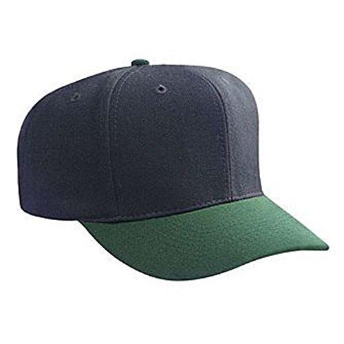 Product of Ottocap Wool Blend Six Panel Pro Style Baseball Cap -Dk.Grn/Blk [Wholesale Price on Bulk]