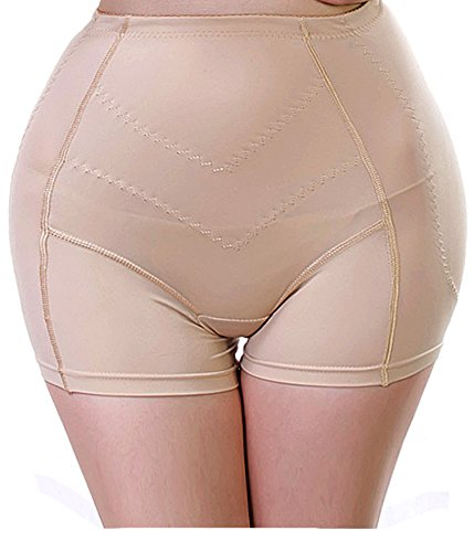 Gotoly Women Padded Seamless Butt Hip Enhancer Shaper Panties Underwear (4XL, Beige)