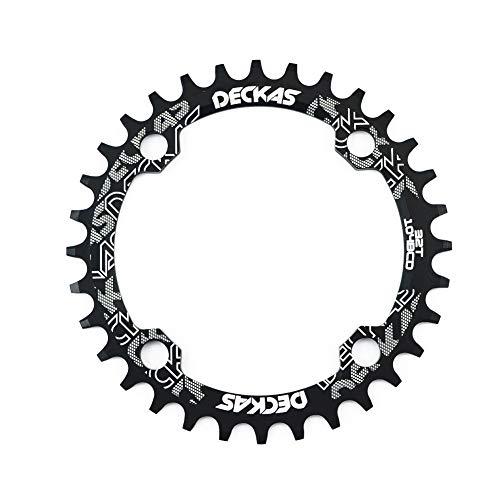 zeker HemeraPhit MTB Crankset Chainwheel Chainring Aluminum Alloy BCD 104mm Repair Bicycle Parts Bielas Bicicleta Gear Pedivela (Black, Round 36T)