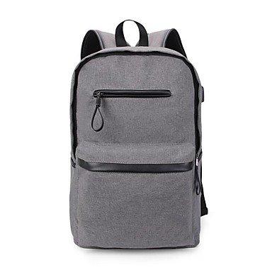 BOAOGOS Männer Taschen All Seasons Canvas Rucksack für zwanglosen Outdoor schwarz Dark grau