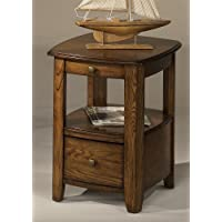 Hammary Primo Chairside Table in Brown