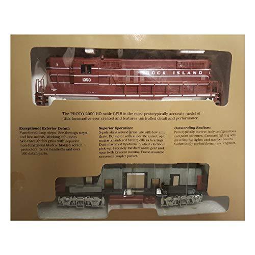 HO Scale Proto 2000 Series No. 8840 GP18 Locomotive, Rock Island #1350 (high Noise w/o Dynamic Brakes)