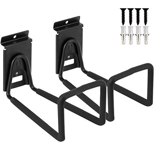 Cord Slatwall Loop Hook, Heavy Duty Garage Utility Cord Wide Holder, Ladders Storage Slat Wall Organization Rack (Black, 2 Pack 8