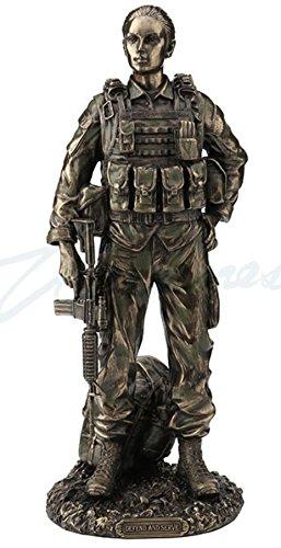 - Veronese U.S. Female Soldier - Defend & Serve Statue Sculpture Figurine