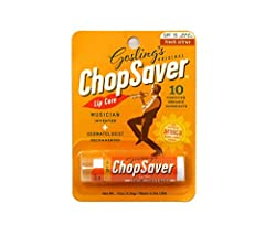 ChopSaver - the ultimate all-natural solution for healthy lips! Invented by a professional trumpet player to address the lip care needs of brass and woodwind players, ChopSaver is now enjoyed by everyone. If you suffer from lips that are chap...