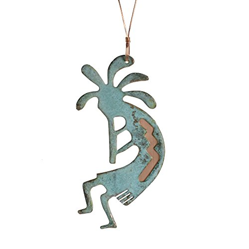 Dos Damas Designs Kokopelli Copper Ornament