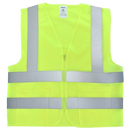 Neiko 53965A Safety Vest with Side Pockets and Front Zipper | High Visibility ANSI/ISEA Standard | Size XXXL by Neiko