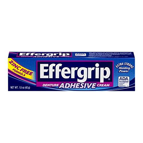 - Effergrip Denture Adhesive Cream 1.50 oz (Pack of 5)