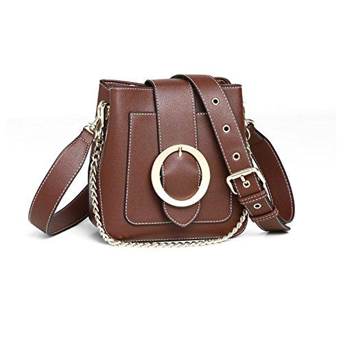 exquisita de Bolsa Bolso A personalidad B moda de ancho de solo casual versátil cinturón Bolso sencillo cubo bandolera Ambiente BgTcqawWdg