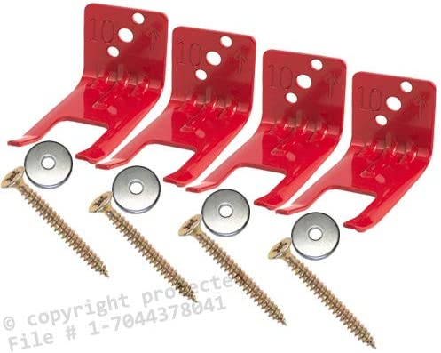 10 Pack Mount Universal for all Extinguishers with Valve Body Slots Hanger for a 2 1//2 to 5 Lb Amerex Fork Style Wall Hook Extinguishers FREE SCREWS /& WASHERS INCLUDED - Fire Extinguisher Bracket