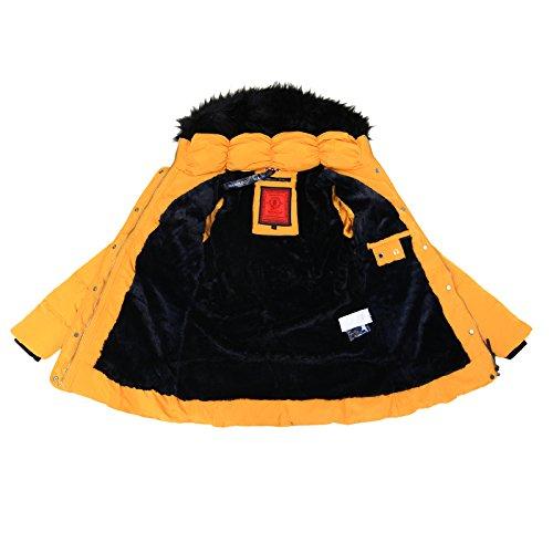 ... Marikoo Damen Winter Jacke Stepp Parka Mantel Teddyfell Warm Gefüttert  Vanilla XS XXL Gelb TjudB0. » »