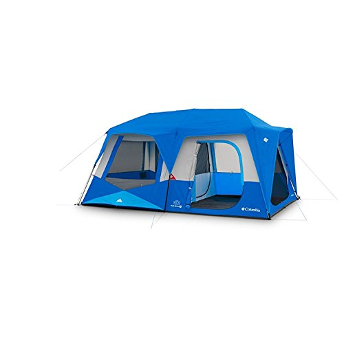 Columbia Fall River 10 Person Instant Tent Compass Blue