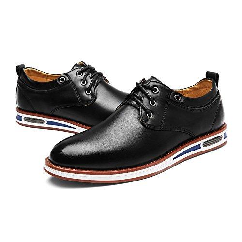 Tomaia Scarpe traspirante 39 formali Pelle fodera Scarpe Xiaojuan Uomo shoes lavoro in Nero con pelle da Nero PU Dimensione opaca EU uomo Color da nZZTxFW6