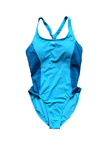 Nike One Piece Swimsuits - Nike Women's Racerback One Piece Swimsuit (Large, Sea/Teal)