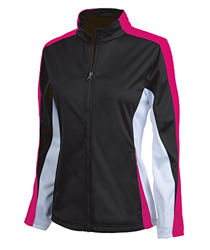 - Charles River Apparel Women's Brushed Sports Jacket, Black/Hot Pink/White, Large