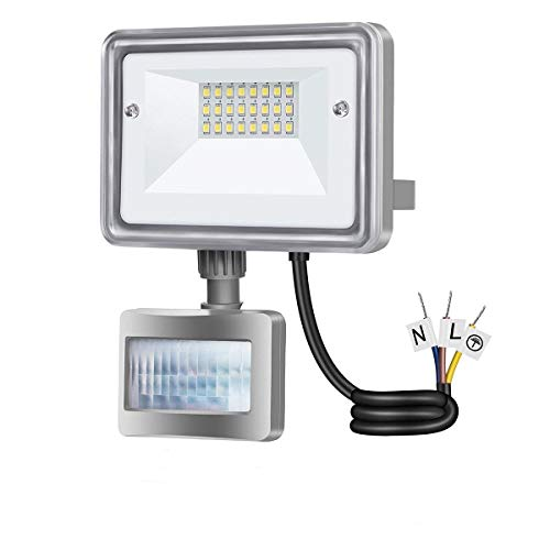 10W LED Flood Light, STASUN 950lm Motion Sensor Security Lights, 100W Equivalent, 6000K Daylight, Waterproof, Great for Driveway Patio Garden