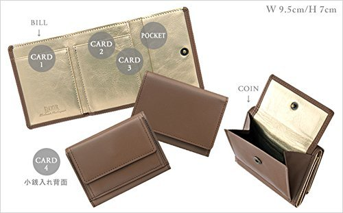 48403d4f3c5a 極小財布 InRed別注モデル「カウハイドグレージュ」 BECKER 日本製 ミニ財布/三