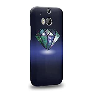 Case88 Premium Designs DIAMOND NEBULA TREND MIX 0763 Protective Snap-on Hard Back Case Cover for HTC One M8 by icecream design