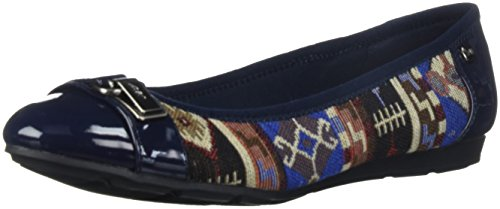 Anne Klein Damen Able Stoff Ballett Flat Blau / Multi