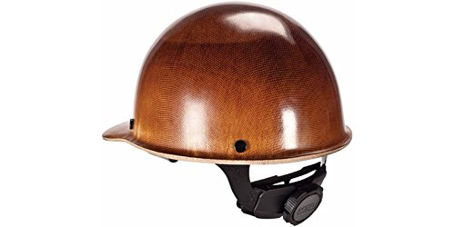 (MSA (Mine Safety Appliances) 482002 MSA Tan Skullgard Phenolic Cap Style Hard Hat with Fas Trac Ratchet Suspension and Welder's Lugs, Plastic, 1