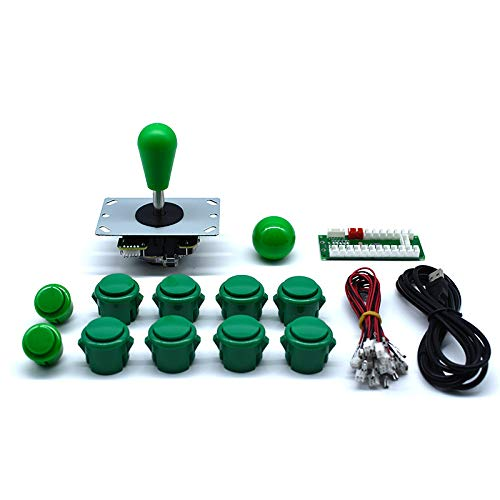 - Arcity Arcade Buttons and Joystick Kits DIY Controller USB Encoder to PC Video Games 8 Ways Joystick + 10 Push Buttons (2.8mm Terminal) for Windows MAME Raspberry Pi 1 2 3 Green New