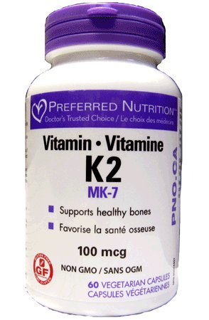 Preferred Nutrition Vitamin K2, 60 Vegetarian Capsules for sale  Delivered anywhere in Canada