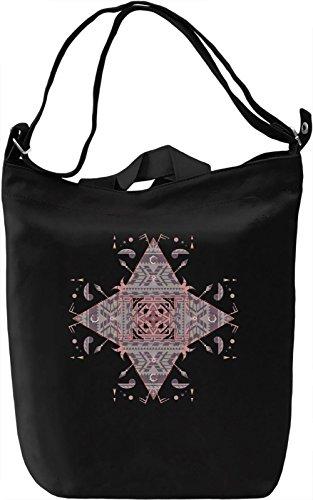 Native Triangles Borsa Giornaliera Canvas Canvas Day Bag| 100% Premium Cotton Canvas| DTG Printing|