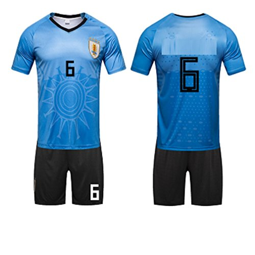 (ZLJTYN Uruguayan Jersey, 2018, Portugal, Football Suit Suit, Male, Argentina, Germany, Match Training Jersey, 6)