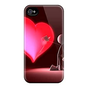 Durable Protector Case Cover With Touch My Heart Hot Design For Iphone 4/4s