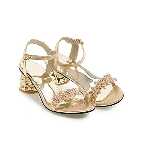 Bajos Peep Zapatos Chanclas Sandalias toe Heelswomen Señoras li Alto Sandalias Verano Bajian nxwqSFWRq
