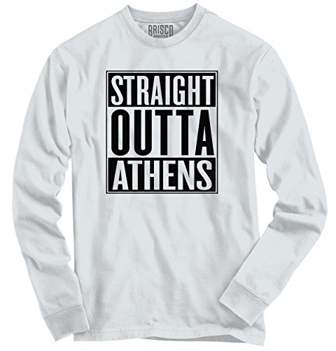 Classic Teaze Straight Outta Athens, GA City Funny Movie T Shirts Gift Ideas Long Sleeve (T-shirts Athens Ga)